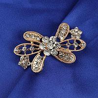 Декоративная застёжка 'Цветок', 6 x 3,5 см, цвет золотой