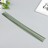 Проволока флористическая 'Florico' 1.2 мм, 12 шт, 40 см, в бумажной оплётке, зелёный