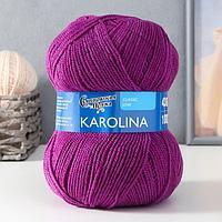 Пряжа Karolina (Каролина) 100 акрил 438м/100гр пурпурн (247) (комплект из 2 шт.)