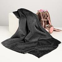 Лоскут для рукоделия, 50х50 см, мех, цвет тёмно-серый