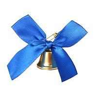Колокольчик с синим бантом, d3,6 см (комплект из 10 шт.)