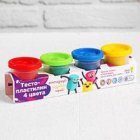 Набор для детского творчества 'Тесто-пластилин, 4 цвета'