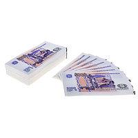 Сувенирные салфетки 'Пачка денег 5000 рублей', двухслойные, 25 листов