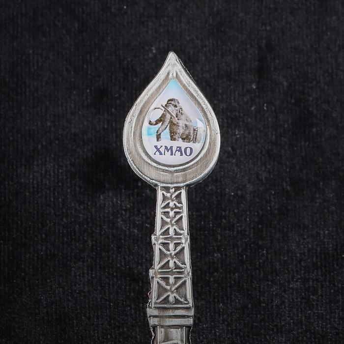 Ложка в форме капли нефти 'ХМАО. Мамонт' - фото 3