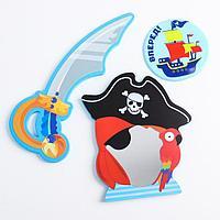 Набор игрушек для ванны 'Морские приключения' зеркало, игрушка из EVA, мини-коврик