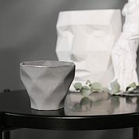Кашпо-ромб 'Фантазия', цвет серый, 10.5 x 9 см