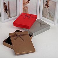 Коробочка подарочная под набор 'Гипюровый бант', 13*17см, цвет МИКС (комплект из 6 шт.)
