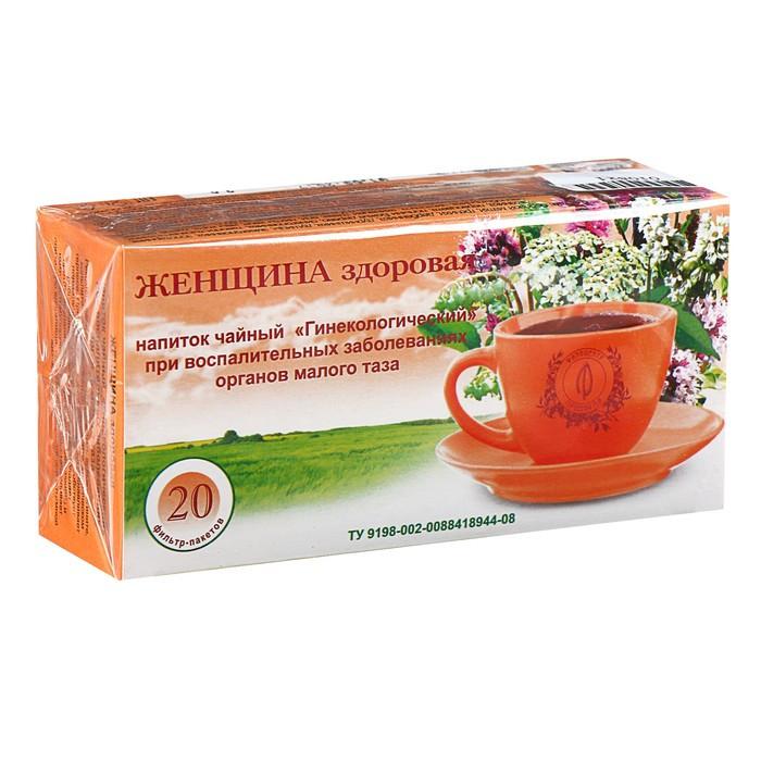 Травяной сбор 'Женщина здоровая. Гинекологический', фильтр-пакет, 20 шт. - фото 1