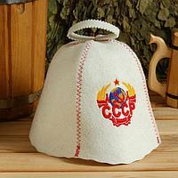 Шапка для бани и сауны с вышивкой 'СССР'