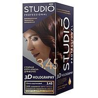Комплект для окрашивания волос Studio Professional 3D Holography, тон 3.45 тёмно-каштановый