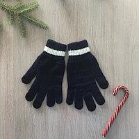 Перчатки женские, цвет тёмно-синий, размер 18