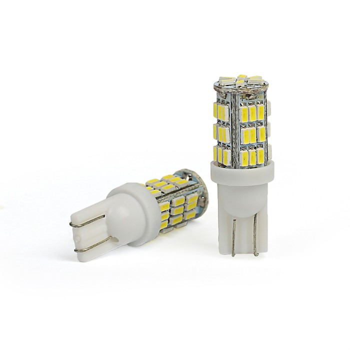 Лампа светодиодная KS, Т10 (W2.1-9.5d), 12 В, белая, 42 SMD, б/цокольная (комплект из 10 шт.) - фото 1