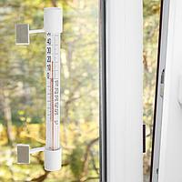 Термометр оконный стеклянный 'Липучка' в блистере (-50 +50),