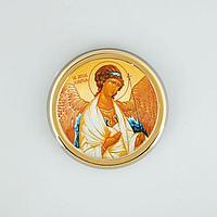 Икона в авто 'Ангел Хранитель',золоченая, липкая лента, D4 см (комплект из 3 шт.)
