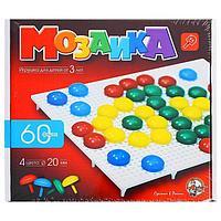 Мозаика круглая, 60 элементов по 20мм, 4 цвета
