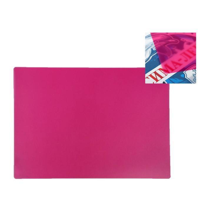 Накладка на стол пластиковая, А3, 460 х 330 мм, 500 мкм, прозрачная, цвет розовый (подходит для ОФИСА) - фото 1