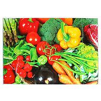 Наклейка на кафельную плитку 'Овощное ассорти' 90х60 см