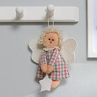 Кукла интерьерная 'Ангелочек', с звездой в руках, цвета МИКС