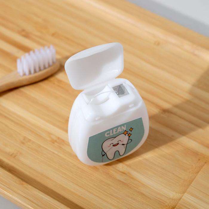 Зубная нить в голографическом пакете I love floss, 30 м., 5 х 4 см - фото 5