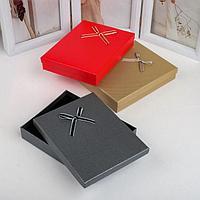 Коробочка подарочная под набор 'Контурный бант', 13*17см, цвет МИКС (комплект из 6 шт.)