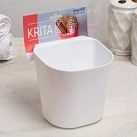 Полка навесная малая Krita, 11,5x13x18 см, цвет снежно-белый