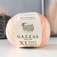 Пряжа 'Baby Wool XL' 20 кашемир, 40 меринос. шерсть, 40 акрил 100м/50гр (834 персик)