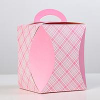 Коробка для кулича 'Клетка' диаметр 12,4 см