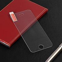 Защитное стекло 2.5D LuazON для iPhone 5/5S, полный клей, 0.26 мм, 9Н