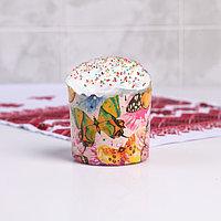 Форма бумажная для кекса, маффинов и кулича 'Бабочки цветные' 70x60 мм (комплект из 20 шт.)