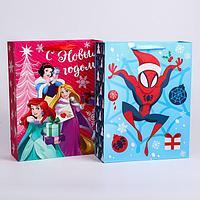 Пакет ламинат 'С Новым Годом!', Disney, 31х40х11 см, МИКС 2 (комплект из 2 шт.)