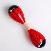Деревянная музыкальная игрушка 'Маракас двойной' 22,5 x 5,5 см, МИКС