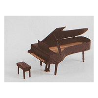 Модель 3D 'Пианино' из бумаги с лазерной резкой