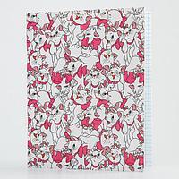 Тетрадь 48 листов в клетку, картонная обложка 'Коты-аристократы. Мари'