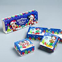Подарочная коробка 'С Новым Годом!', Микки Маус и друзья, 27,2 х 9,4 х 4,8 см