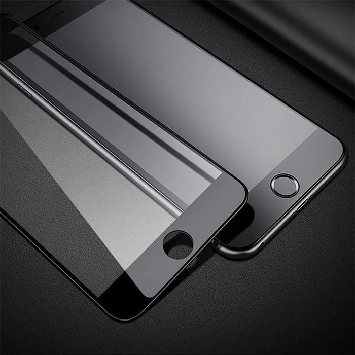 Защитное стекло 9D LuazON для iPhone 7/8/SE2020, полный клей, 0.33 мм, 9Н, чёрное - фото 5