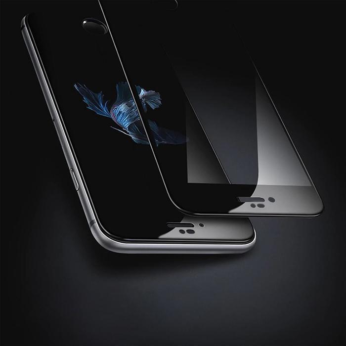 Защитное стекло 9D LuazON для iPhone 7/8/SE2020, полный клей, 0.33 мм, 9Н, чёрное - фото 6