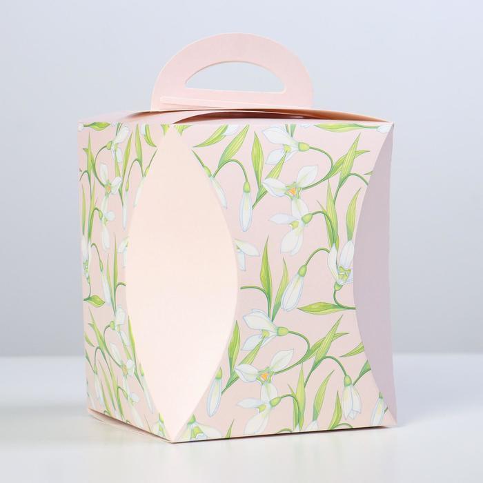 Коробка для кулича 'Подснежники' диаметр 12,4 см - фото 1