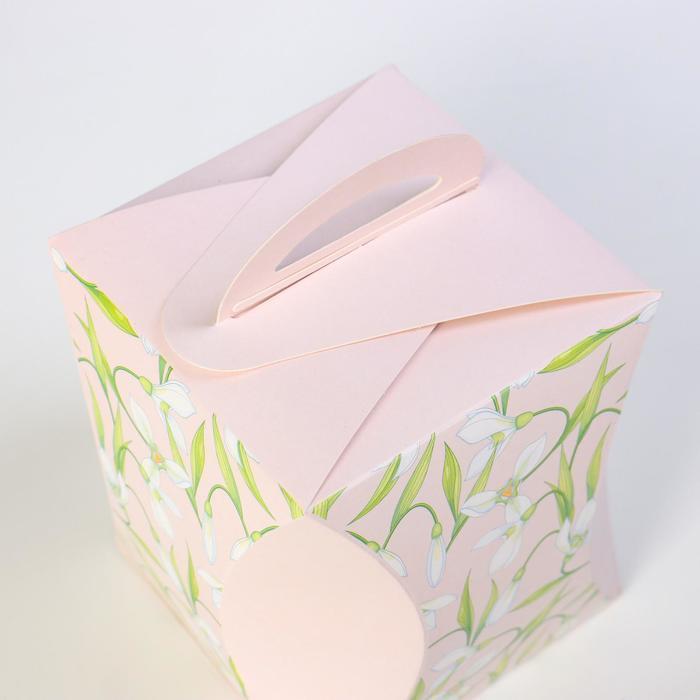 Коробка для кулича 'Подснежники' диаметр 12,4 см - фото 3
