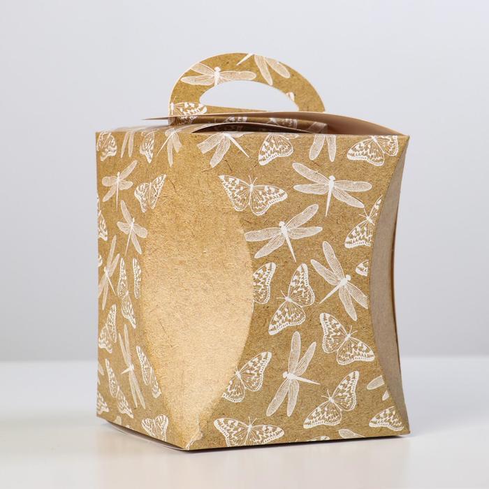Коробка для кулича 'Стрекозы и бабочки' диаметр 12,4 см - фото 1