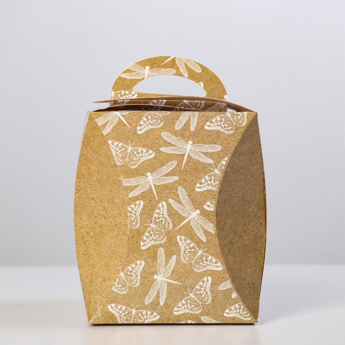 Коробка для кулича 'Стрекозы и бабочки' диаметр 12,4 см - фото 2
