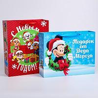 Пакет ламинат 'С Новым Годом!', Disney, 31х40х11 см, МИКС 6 (комплект из 2 шт.)
