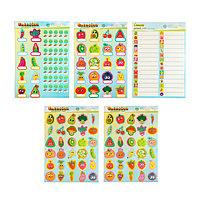 Наклейки для шкафчиков,кроваток и стульчиков ''Овощи и фрукты'', 5 листов, 42 х 29,7 см