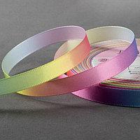 Лента атласная 'Радуга', 10 мм x 18 ± 1 м, разноцветная
