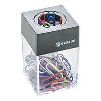 Диспенсер для скрепок GLOBUS, магнитный (скрепки цветные 50 шт., 28 мм)