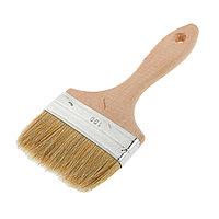 Кисть плоская LOM, 100х14 мм, ручка дерево, натуральная щетина (комплект из 5 шт.)