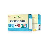 Рыбий жир Mirrolla с витаминами A, D, E, 100 капсул по 0,37 г
