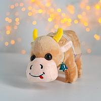 Мягкая игрушка 'Бычок с колокольчиком', на присоске, цвета МИКС