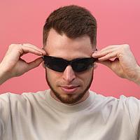 Очки солнцезащитные, велосипедные 'Мастер К.', uv 400, 11.5х13х4 см, линза 4х7 см