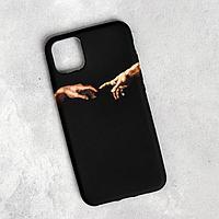 Чехол для телефона iPhone 11 pro max 'Сотворение Адама', 7,8 х 15,8 см