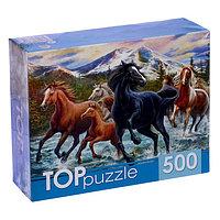 Пазл 'Табун лошадей в горах', 500 элементов